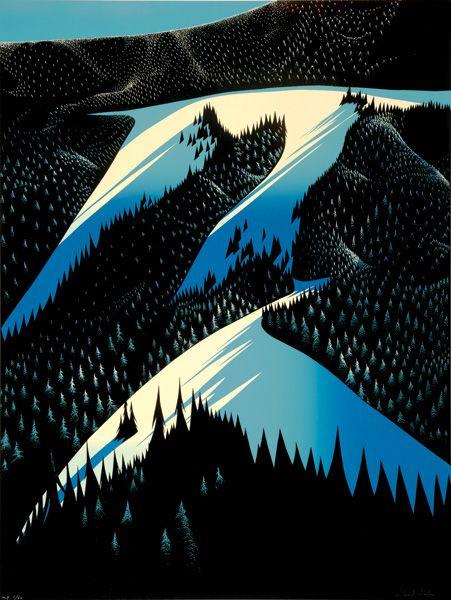 Eyvind Earle - Black Evergreen Forest