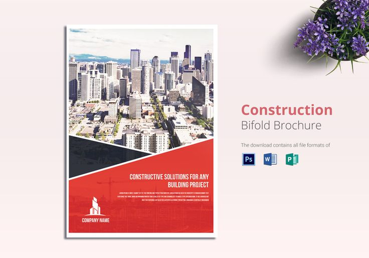 Construction Brochure Template  $25  Formats Included : MS Word, Photoshop, Publisher   File Size : 8.38x11.93 Inchs  #ConstructionBrochuredesigns #ConstructionBrochures #Brochures