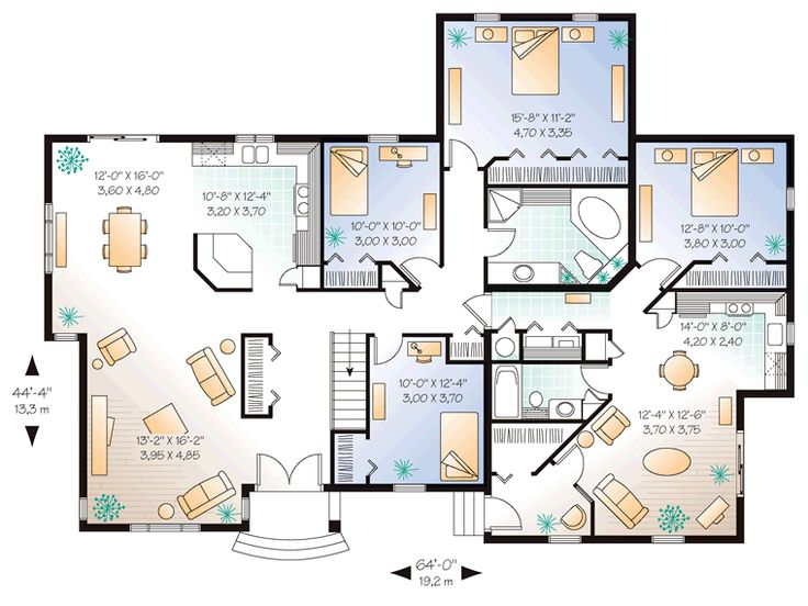 superb family home plans com #10: House Plan 65391 at FamilyHomePlans.com has an attached apartment and yet  is only 2140sf