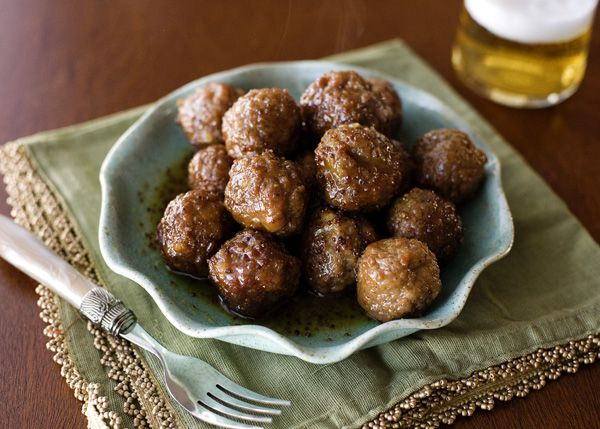 slowcooker Sweet and Spicy Meatballs