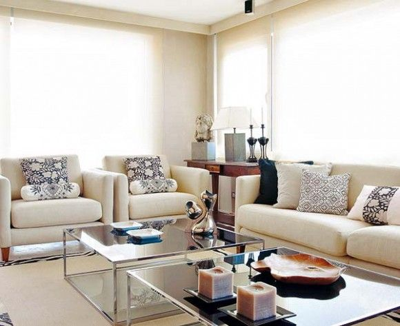 The art of white living where white rules the base color and adds charm to every space of the modern interior with small accents.