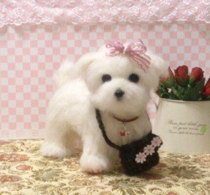 Needle felt Needle felting dog Needle felted dog by FeltTale, $160.00