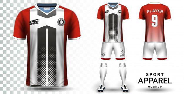 Download Soccer Jersey And Football Kit Presentation Mockup Template Sports Shirts Soccer Jersey Football Kits