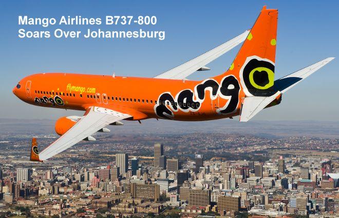 Mango Airlines B737-800 soaring above Johannesburg #MangoAirlines