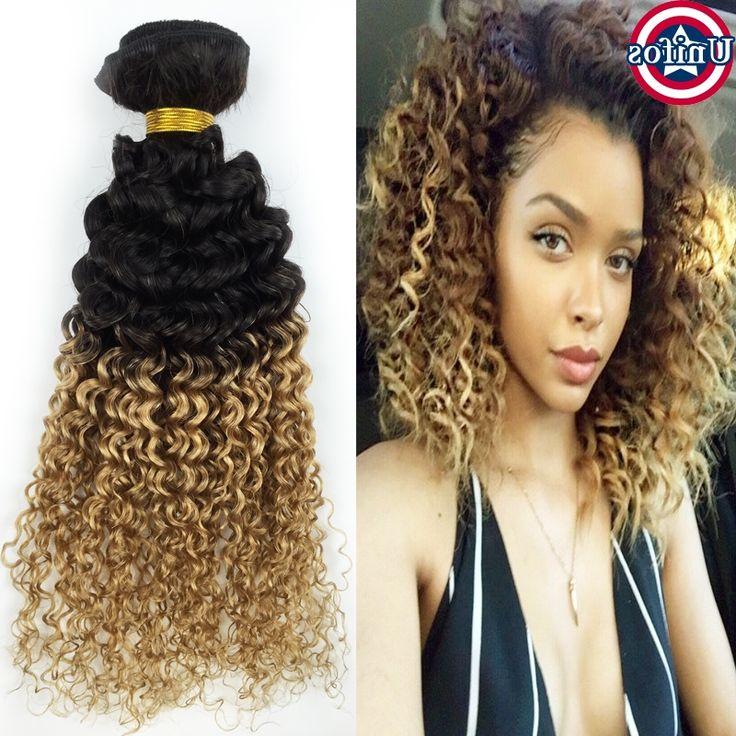 39.60$  Buy now - https://alitems.com/g/1e8d114494b01f4c715516525dc3e8/?i=5&ulp=https%3A%2F%2Fwww.aliexpress.com%2Fitem%2FOmbre-Brazilian-Hair-Kinky-Curly-Virgin-Hair-1b27-Human-Hair-Extensions1pc-Two-Tone-Brazilian-Weave-Hair%2F32660662148.html - Brazilian Ombre Hair Jerry Curly Human Hair 1 Bundle Two Tone Kinky Curly Virgin Hair Ombre Blonde Curly Human Hair Extensions 39.60$