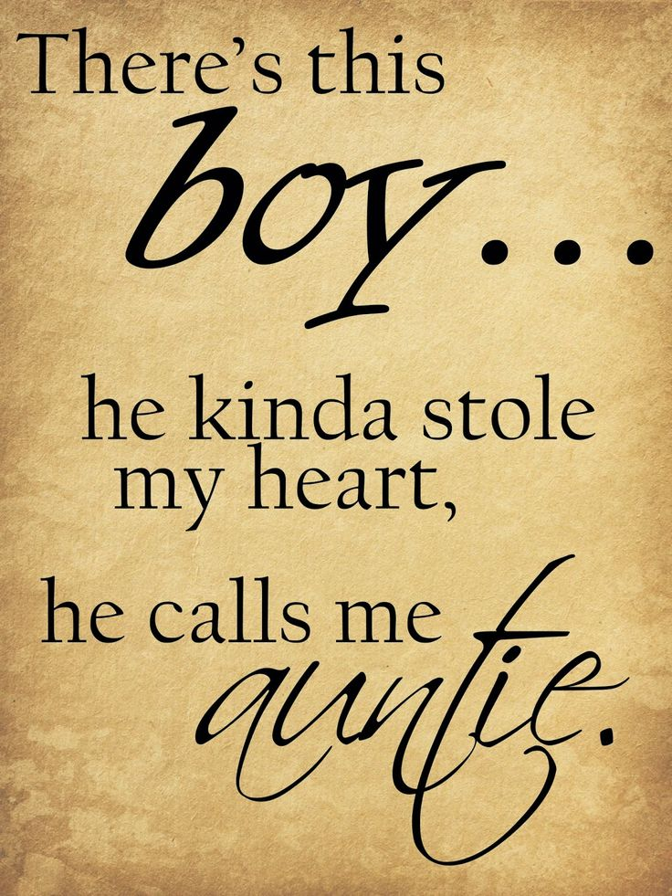 There's this boy... he kinda stole my heart, he calls me auntie. #quote #family