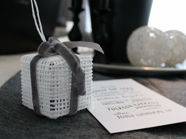 Yours, S: Paketti paperinarusta @YoursSblogi #joulu #juhlat #lahjaidea #paperinaruaskartelua #DIY