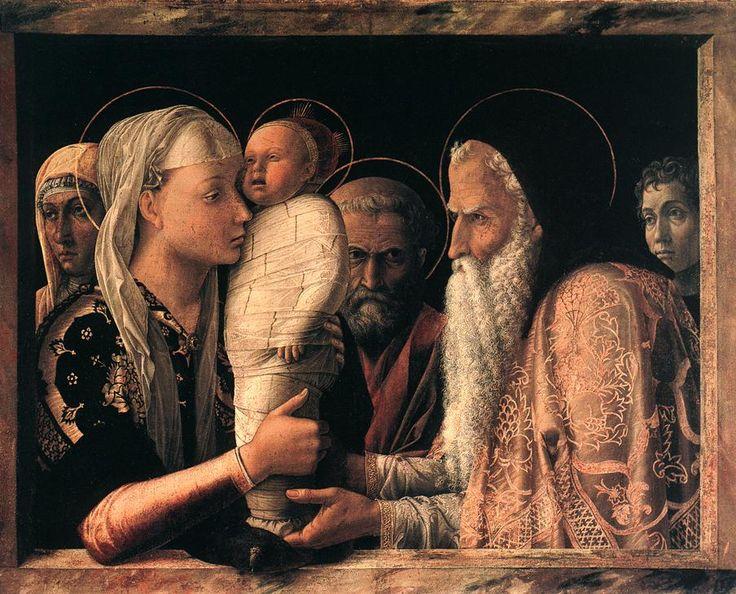 Andrea Mantegna, Presentazione al Tempio, tempera su tavola (68,9x86,3 cm), 1455 circa, Gemäldegalerie di Berlino.