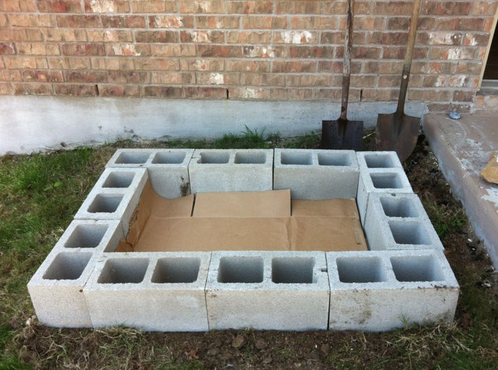 raised bed garden designs - really not a bad idea. The small spaces in the blocks is great for herbs that may be invasive (mints, chives)