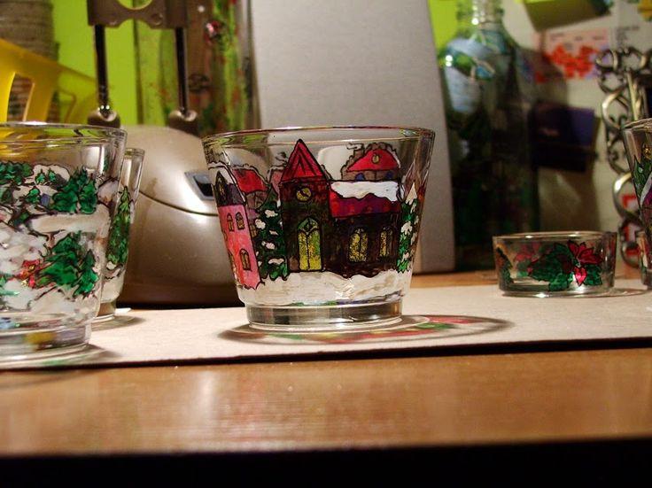 Christmas candlestick Świecznik na Boże Narodzenie