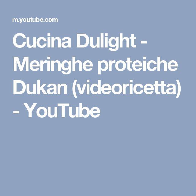 Cucina Dulight - Meringhe proteiche Dukan (videoricetta) - YouTube