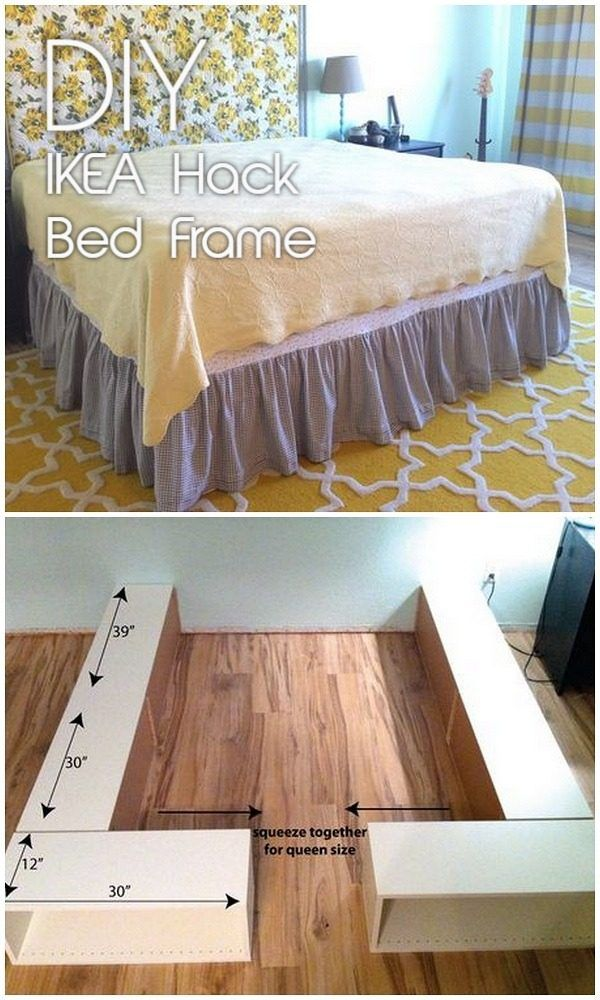 61 Easy Diy Bed Frames You Can Build On A Budget Diy Bed Frame Easy Diy Bed Bedroom Diy