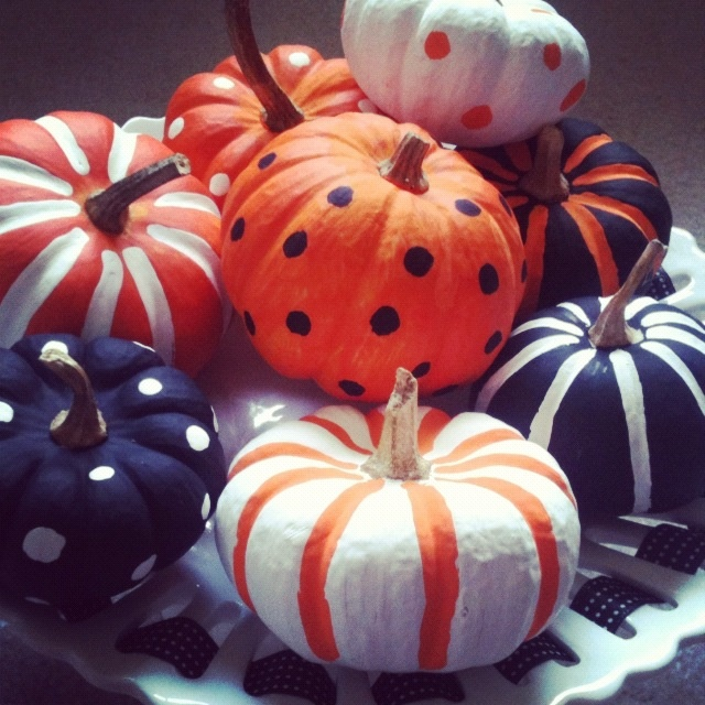 painted pumpkins from our halloween party