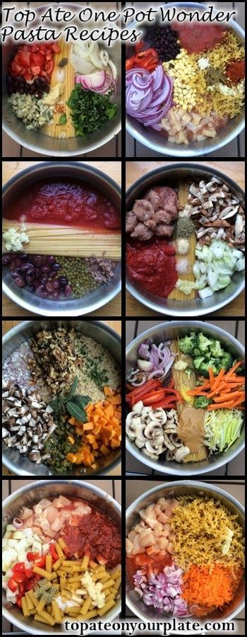 Many one pot recipes that could easily be cooked in the Wonder Oven