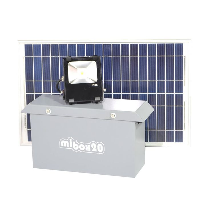 SOLAR FLOOD LIGHT SYSTEM 850 LUMENS