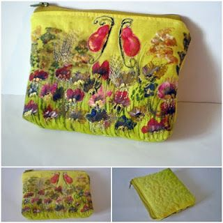 Cre-art Textiles: quilted coin purse