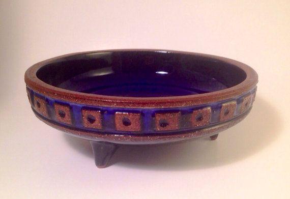 50s fantastic mid century modern swedish ceramic bowl Gabriel. Beautiful piece. Signed.