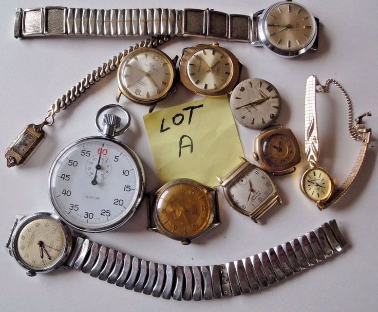 """Mixed Lot of Wrist Watches for Parts or Repair  Lot """"A"""""""