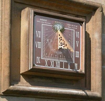 Vertical sundial for a London garden