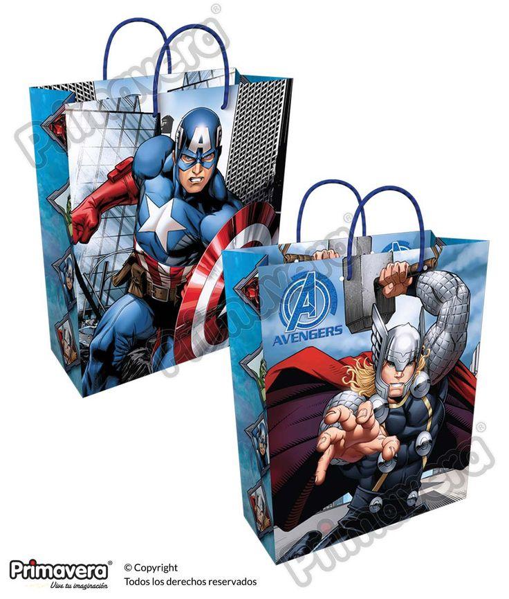 Bolsa Regalo Avengers http://envoltura.papelesprimavera.com/product/bolsa-regalo-personajes-avengers-3/