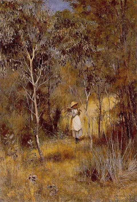 Frederick McCubbin ~ Gathering Mistletoe 1886