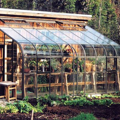 Lean To Greenhouse Kits   Pride of the Pacific Lean-to - Hobby Greenhouse Kits