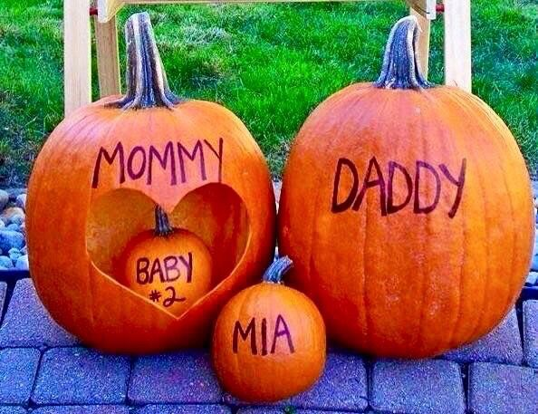 Cute fall pregnant announcement