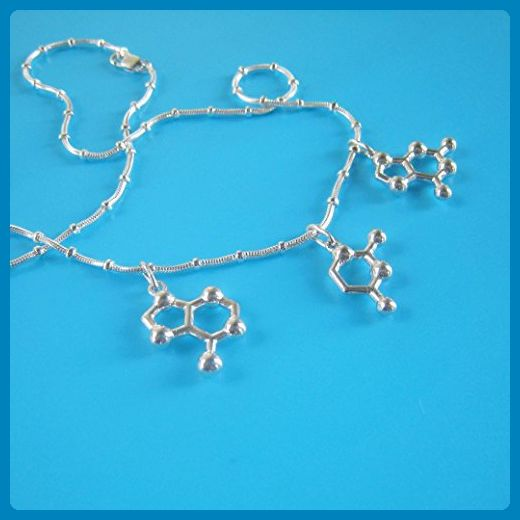 AUG Start Codon DNA Necklace in sterling silver - Wedding nacklaces (*Amazon Partner-Link)