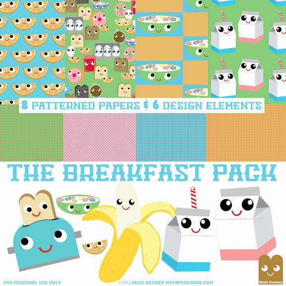 the breakfast pack kitschy digitals - Stuff To Print Out