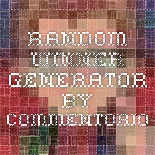Random Winner Generator - by Commentorio