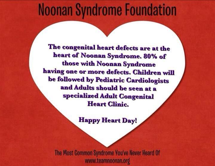 Day 14 of 28... Noonan Syndrome Awareness Fact!