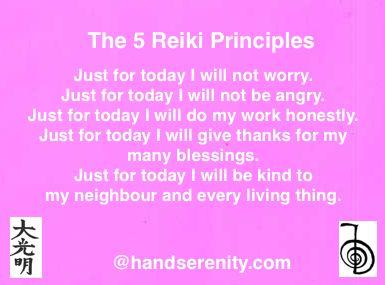 #5ReikiPrinciples #handserenity.com