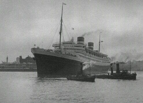 Nieuw Amsterdam in 1947 in Rotterdam