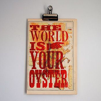 8 best seafood images on pinterest fresh seafood neon nights and the world is your oyster print not on the high street freerunsca Choice Image