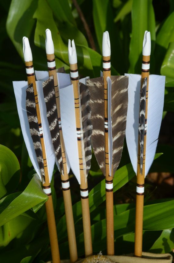 Archery arrows 4 fletched poplar arrows set of 5 by PodunkHollow