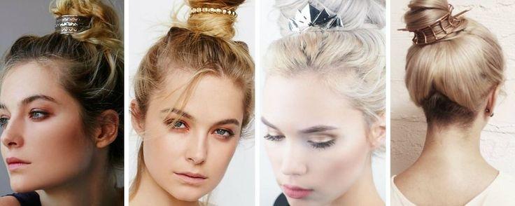 Le bun cuff:  le nouvel accessoire coiffure de la rentrée