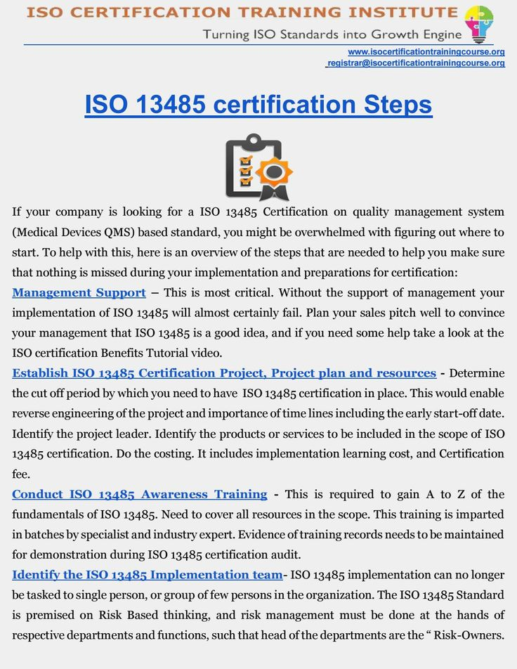 ISO 13485 Certification  Medical Devices QMS Certification   ROADMAP