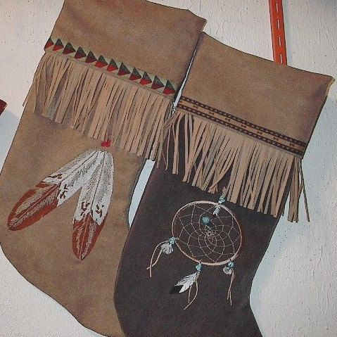 Native American Christmas stockings by mjosoriginals on Etsy