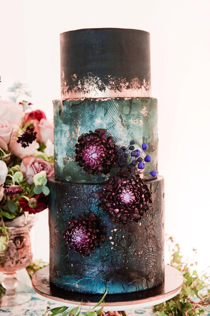Blue, Black, & White Modern Elegant Wedding Ideas via TheELD.com