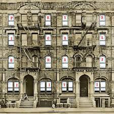 Led Zeppelin - Physical graffiti. Custard pie; The rover; In my time of dying; Houses of the Holy; Trampled under foot; Kashmir; In the light; Bron-Yr-Aur; Down by the seaside; Ten years gone; Night flight; The wanton song; Boogie with Stu; Black country woman; Sick again.