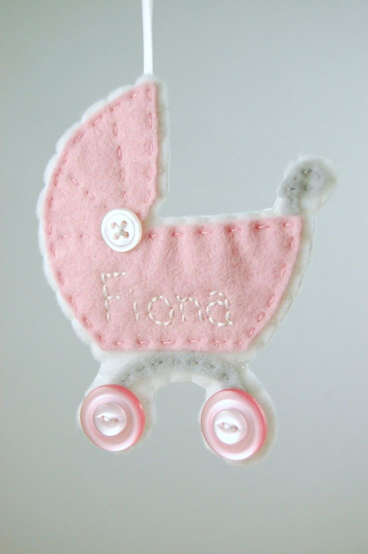 Personalized Baby Girl Ornament - Made to Order Felt Ornament