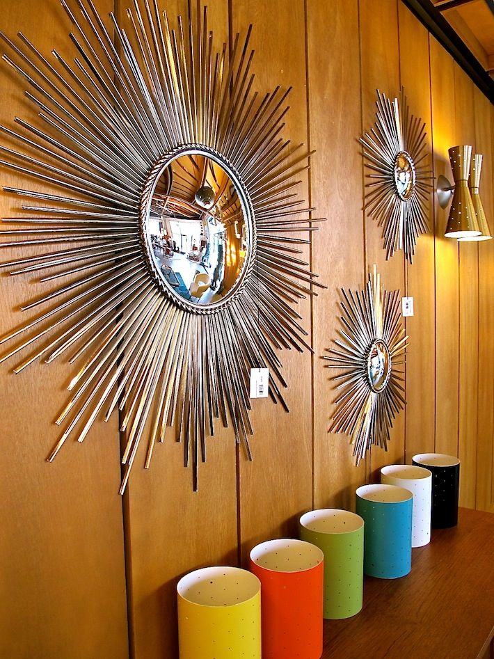 Mid Century Modern Starburst Mirrors As Seen In Our La
