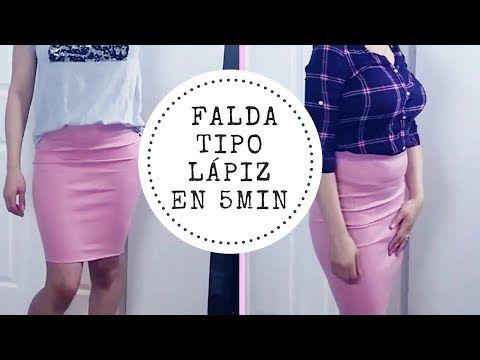 DIY Falda tipo lapiz en 5 minutos - YouTube
