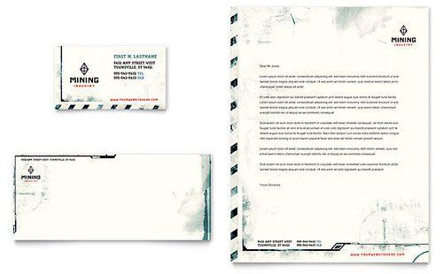 Mining Company Letterhead Template