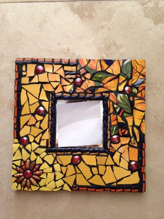 Oneofa kind mosaic mirror in beautiful autumn by TamarDesigns, $18.00