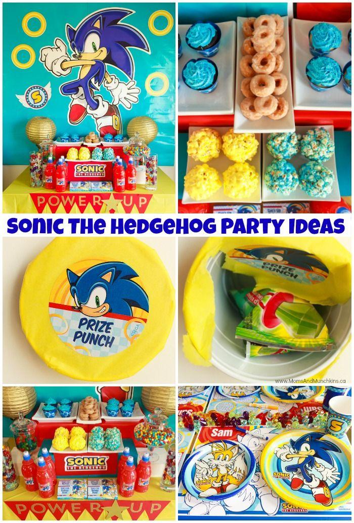 Sonic The Hedgehog Party Ideas Sonic Birthday Parties Sonic Birthday Sonic Party
