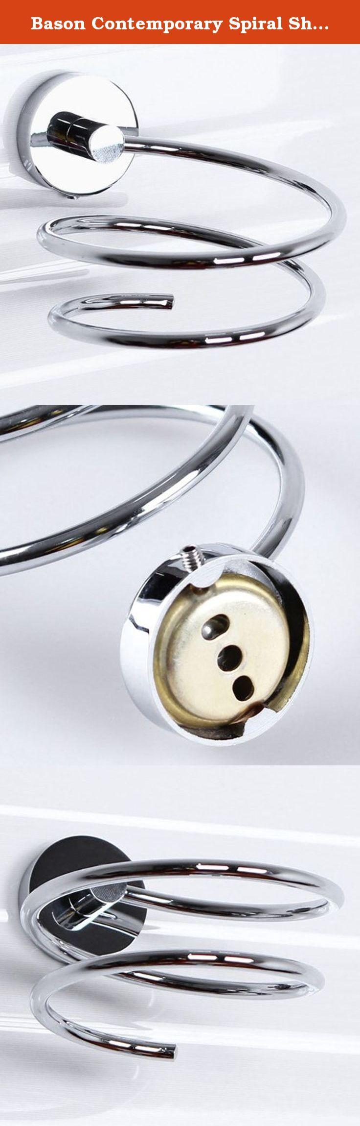"Bason Contemporary Spiral Shape Durable Brass Material Hair Dryer Holder. Type: Bathroom Shelves Style: Contemporary Material: Brass Mount: Wall Mounted Shipping Weight: 0.29KG Dimension: #(100 x 75 mm (3.94 x 2.95 ""))."