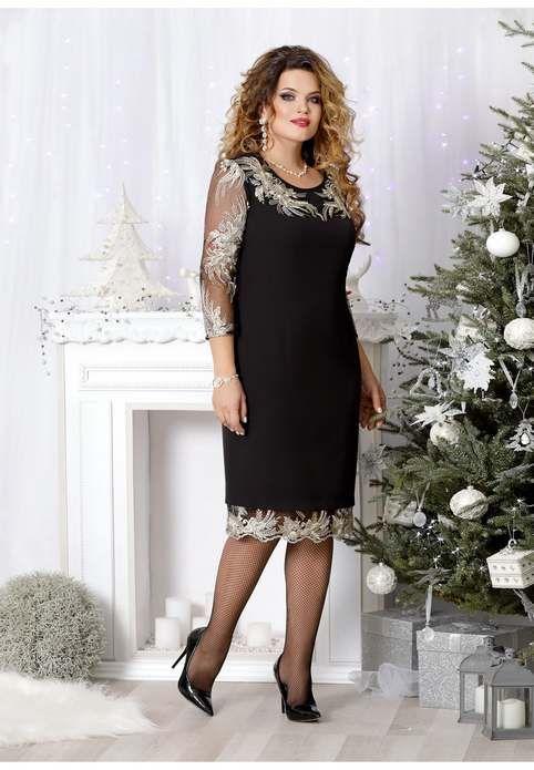 e56c36b72ec5651 Новогодняя коллекция платьев для полных девушек и женщин белорусской  компании Mira Fashion 2019 Элегантные Платья,