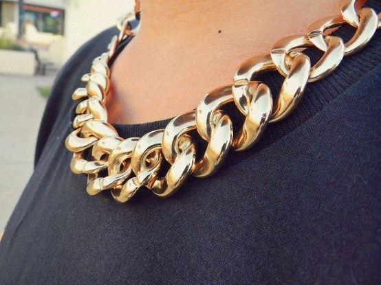 Złoty srebrny naszyjnik ŁAŃCUCH bloger GOLD EdiBazzar