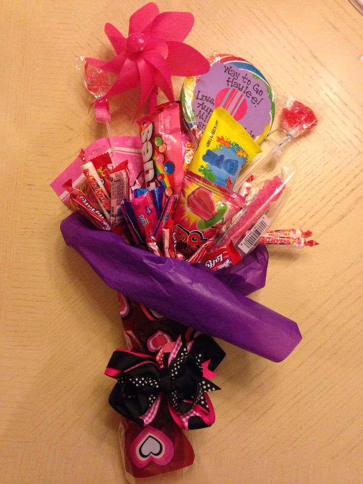 A candy bouquet for my niece's dance recital Candy Gifts